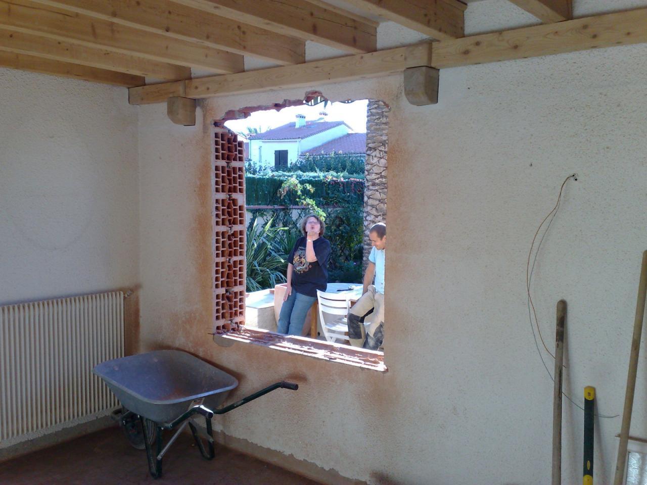Création fenêtre salle à manger