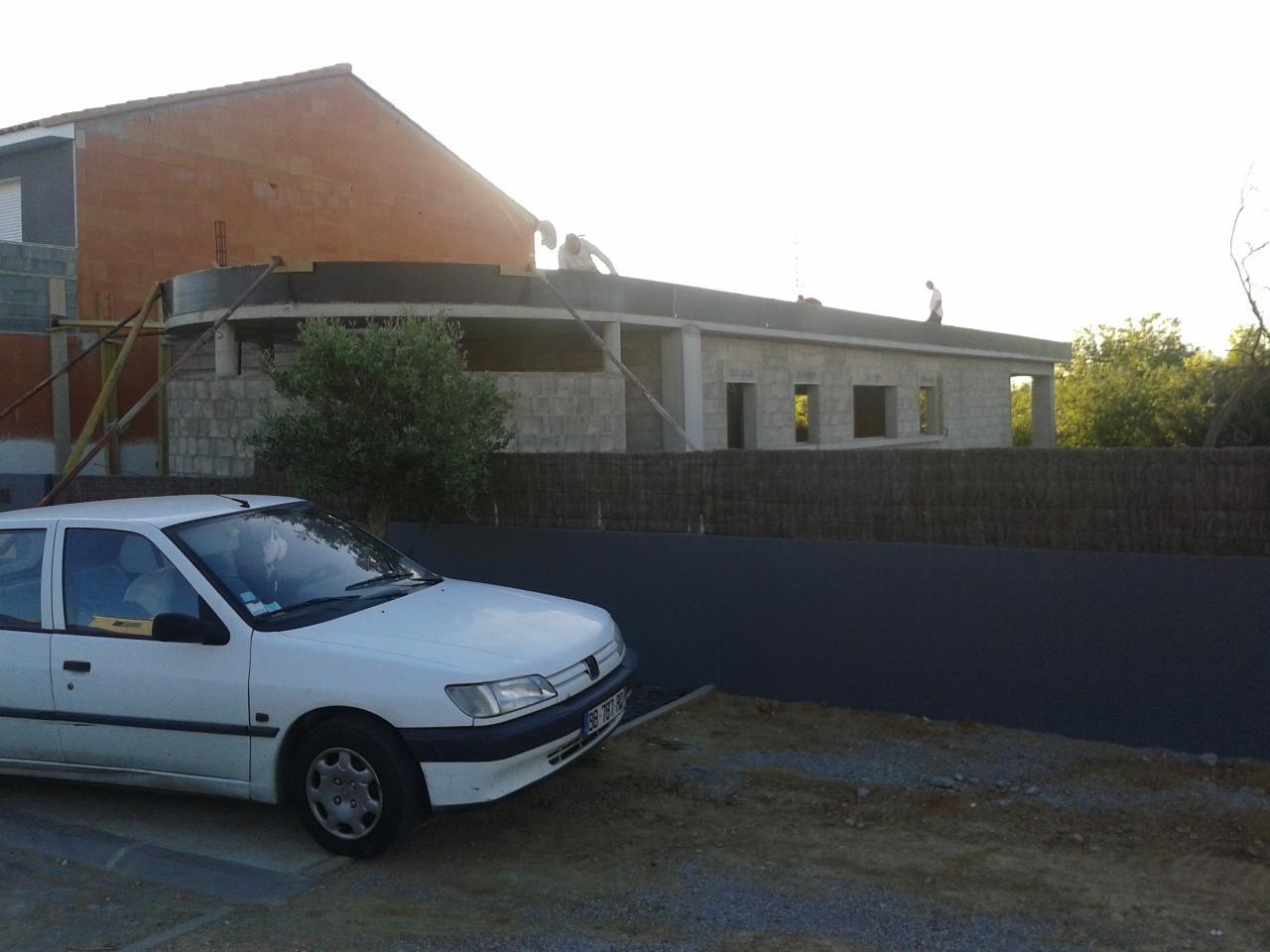 coffrage des accrotères du toit terrasse