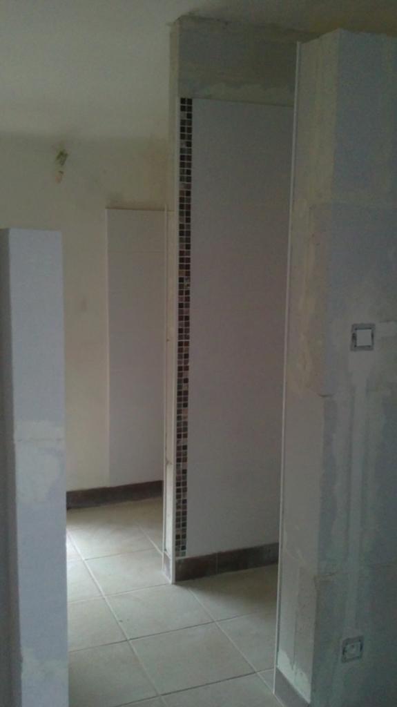 Création salle de bain ouverte sur chambre