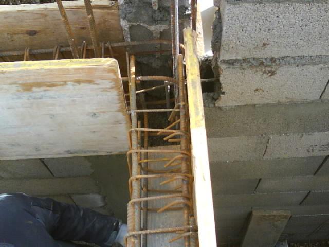 Longrines de reprise vide sanitaire sur sous-sol