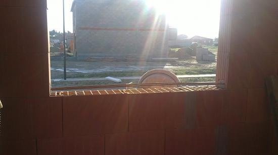 Vue ferraillage alèges de fenêtre