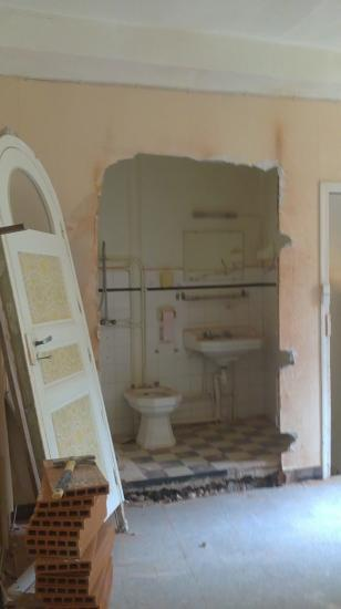 Salle de bains étage avant travaux