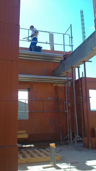 Réalisation pignons (pentes du toit murales)
