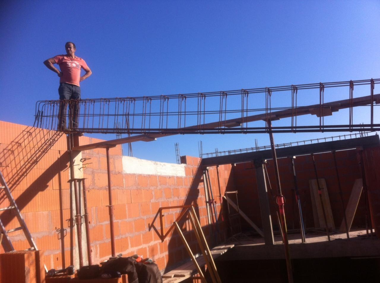 coffrage poutres porteuses toit terrasse