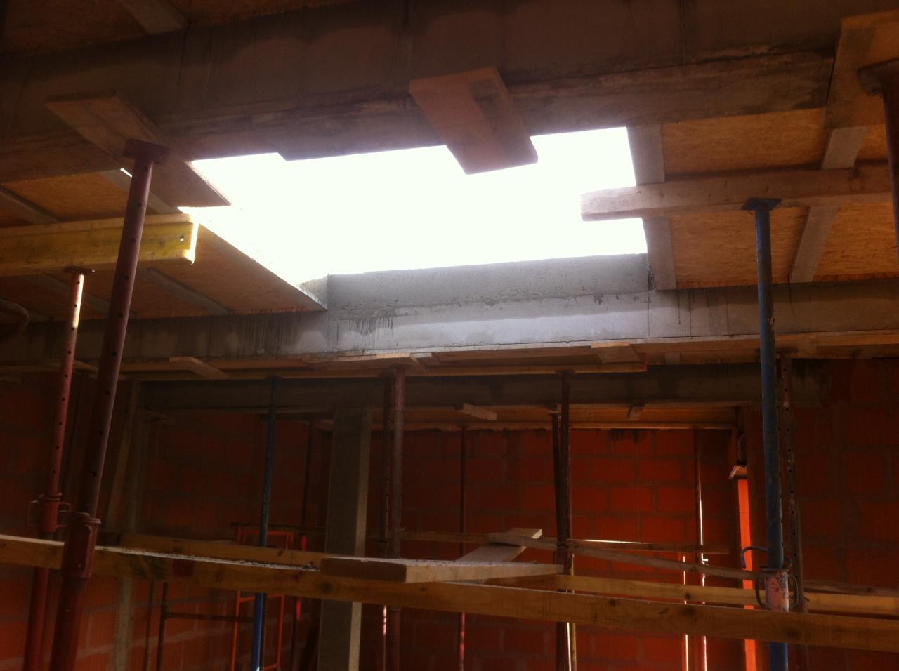 vue puit de jour pour dôme de toit