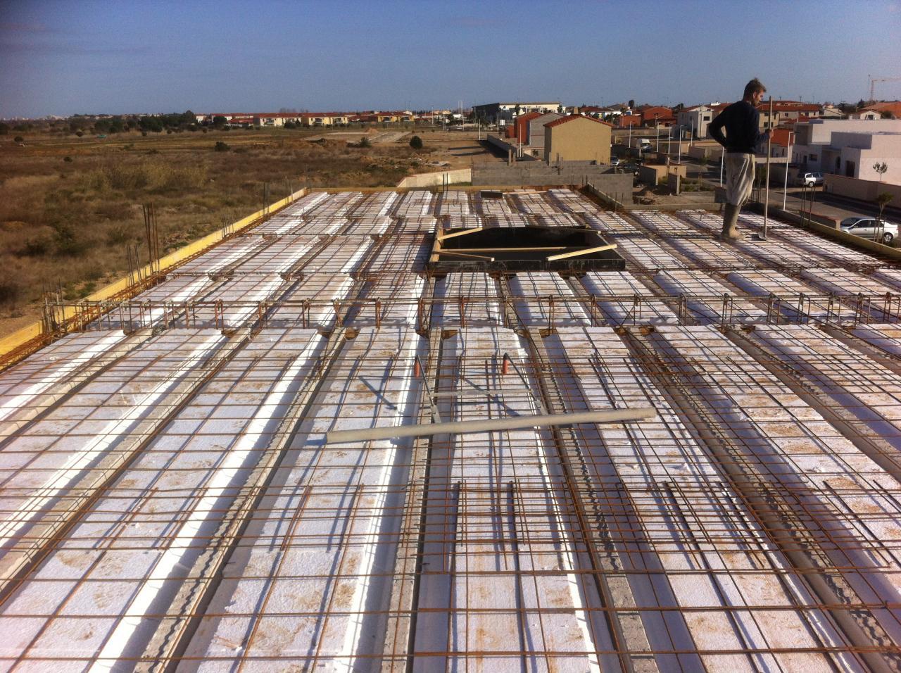 Vue du toit terrasse avant coulage